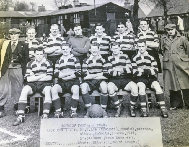 The Worksop Town team from 1949.