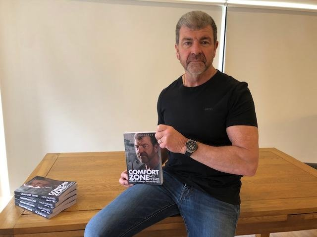 Former Nottinghamshire Police officer Nick Holmes, pictured with his book 'Comfort Zone'.