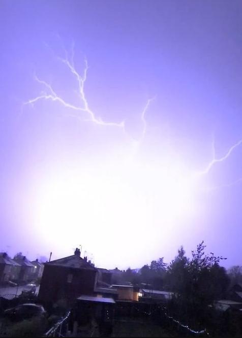 Worksop Guardian reader Janine Greatrex captured lightening over Kilton Hill, in Worksop.