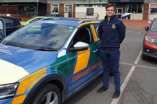 Dr Ed Robinson volunteering with North Nottinghamshire Community First Responders