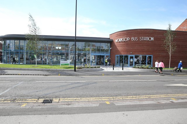 Worksop's new bus station opened in 2015