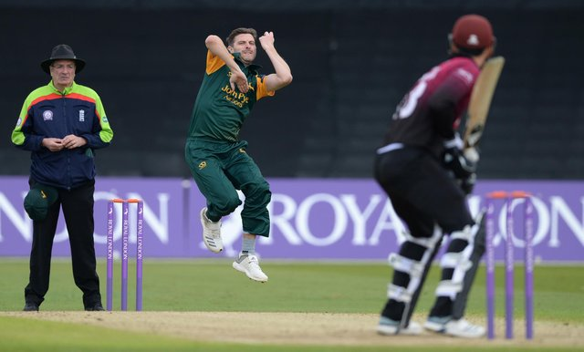 Harry Gurney took 614 wickets during his Nottinghamshire career. (Photo by Philip Brown)