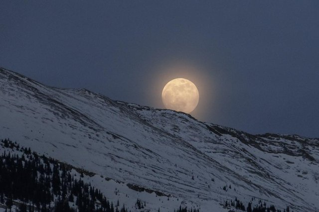 The moon will be visible on Sunday night.