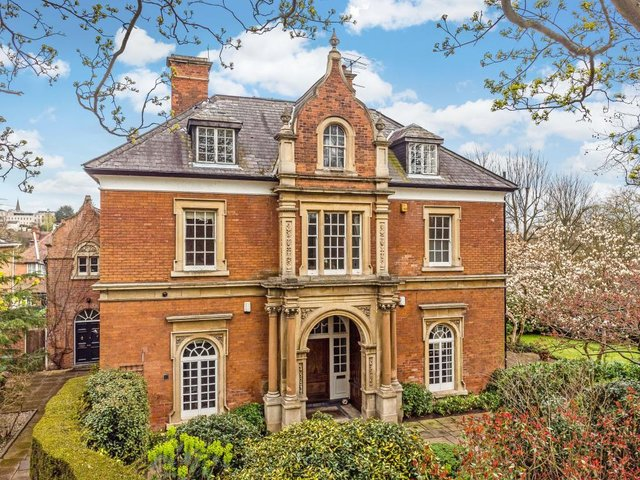 The property is on the Park Estate in Nottingham and on the market for £1.15 million. Photo: Savills