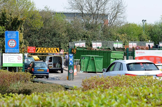 Householders are being warned not to queue dangerously at Nottinghamshire recycling centres over the Easter Bank Holiday.