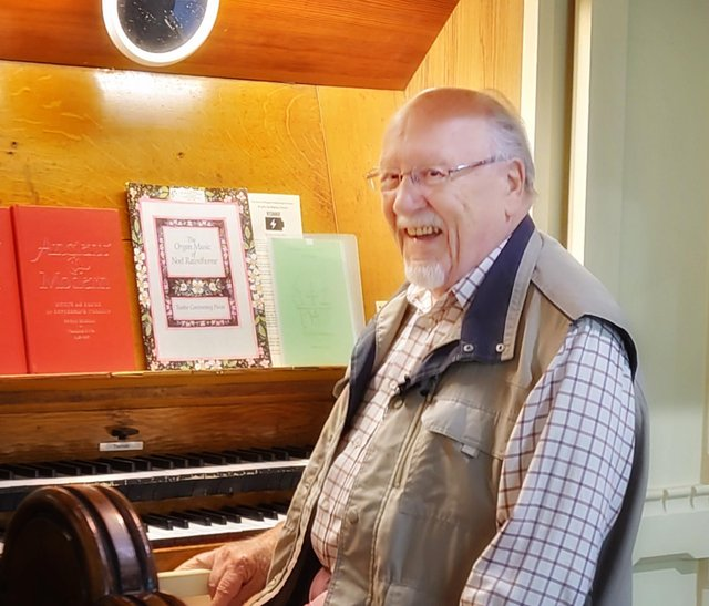 Arthur Stamper followed in his dad's footsteps to become an organist.