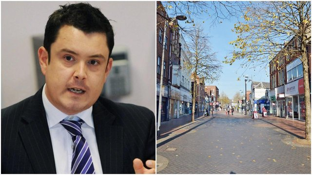 (Left) Bassetlaw District Council leader Simon Greaves (Right) Worksop enters a third lockdown.