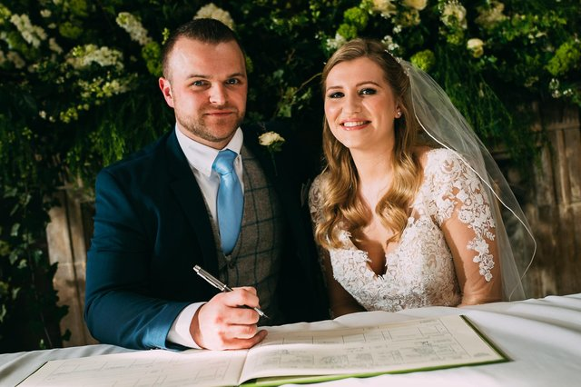 Michelle and Owen's wedding day was filmed for Married at First Sight in March 2020. Picture: Channel 4.