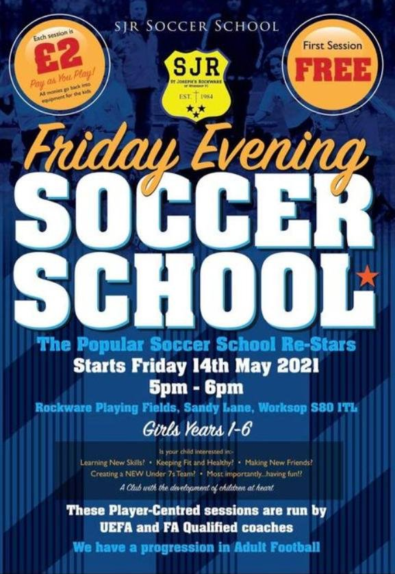 The soccer school will return on Friday, May 14.