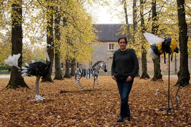 Artist Michelle Reader outside her studio