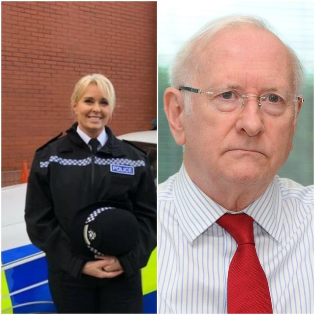 Chief superintendent Lynne Knox and South Yorkshire Police and Crime Commissioner Alan Billings