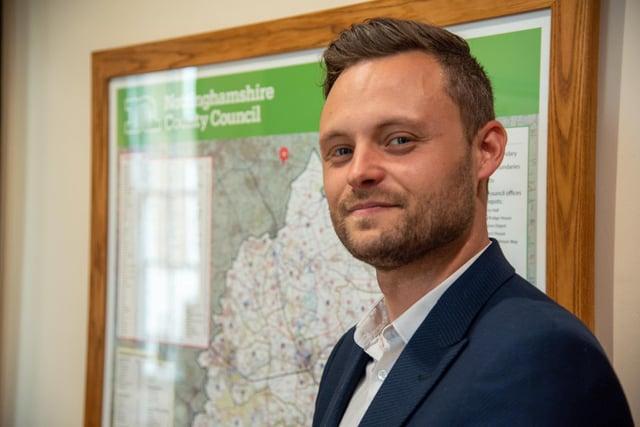 Councillor Ben Bradley, Leader of Nottinghamshire County Council