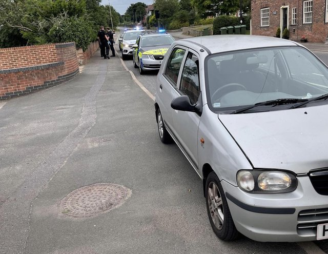 The vehicle was stopped in Blyth.