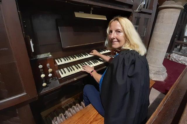 Fiona Law organist at Clayworth and Misterton parish churches.