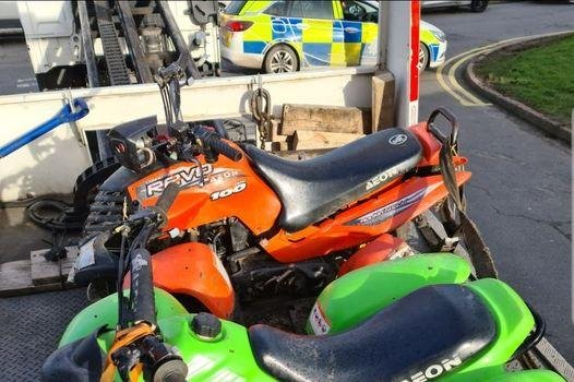 Officer seized two quad bikes as part of their operations.