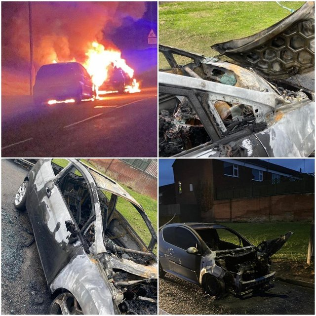 Nottinghamshire Police has launched an investigation after six cars were set on fire in Wingfield Avenue and Southdene, Worksop.
