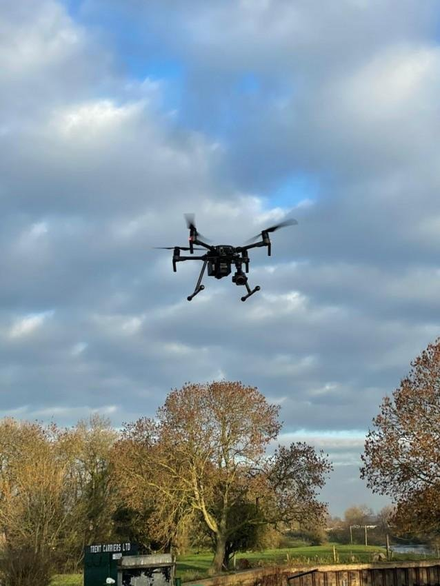 A police drone helped to capture a burglary suspect in the early hours of this morning.