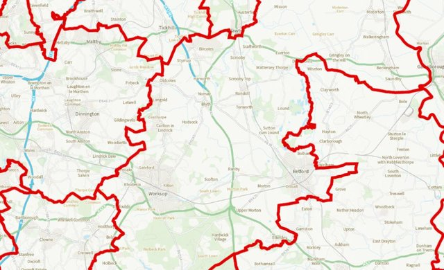 Part of the Bassetlaw constituency in the east would move into the Newark constituency under the proposals.