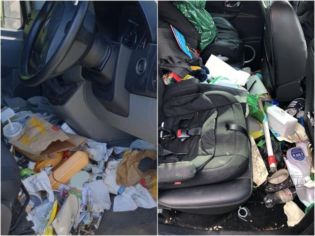 Two of Britain's messiest cars