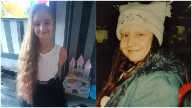 Alissia Cook, nine (Left), was inspired to raise money for The Little Princess Trust after hearing about how the charity supported her mum Sheryl (Right) when she was diagnosed with a rare bone cancer at just 11-years-old.