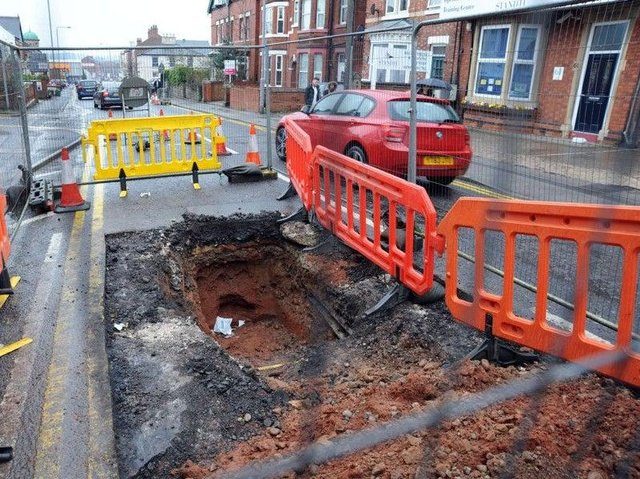 A sinkhole has been popping up on Carlton Road for years, but the route is also plagued with potholes and uneven surfaces.