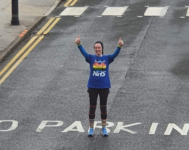 Becky Sprowell has raised thousands for Bassetlaw's NHS heroes.