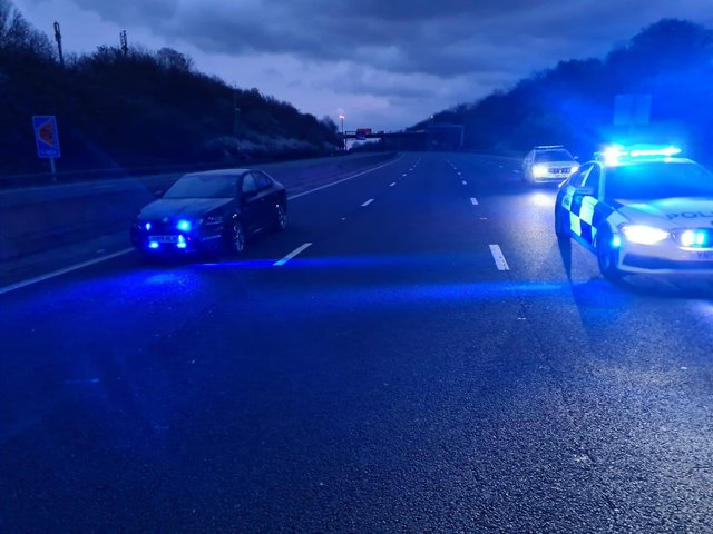 One lane of the northbound M1 remains closed today following a fatal collision last night