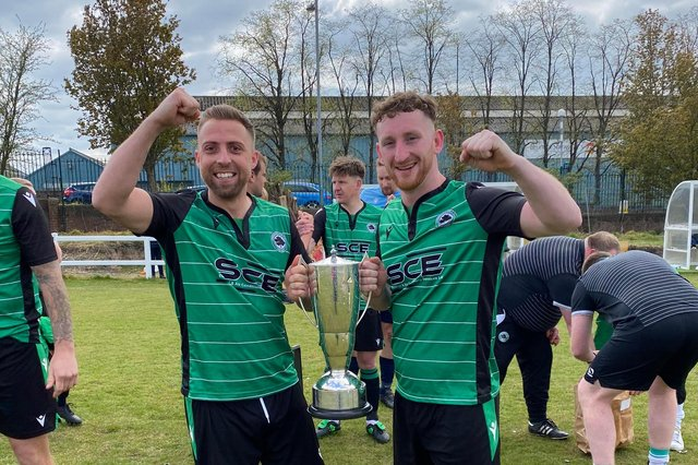 Greeendale complete part one of their double chase with the league trophy.