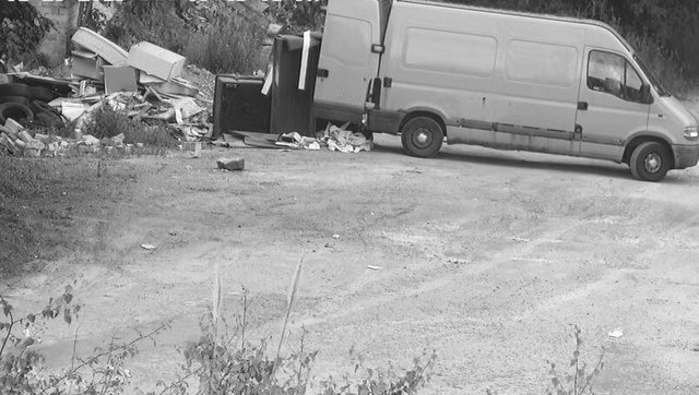The CCTV footage showed an unidentified male removing a wheelbarrow full of waste from the vehicle and depositing it at the site. Ms Bulmer was also present at the fly-tip and the footage also shows her getting out of the van for a short while.