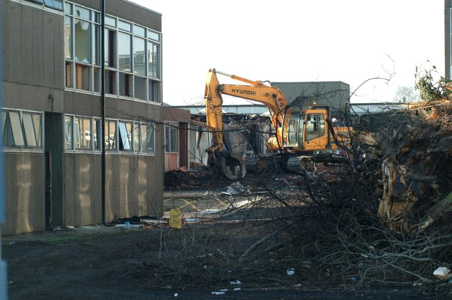 Demolition started at the English block of Valley School