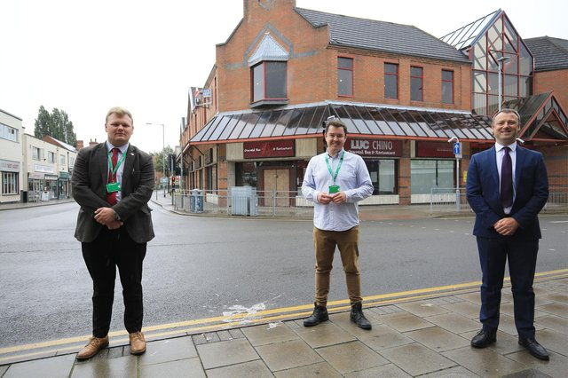 Pictured are Jack Bowker, Bassetlaw Council Vice Chair, Simon Greaves, and Bassetlaw MP Brendan Brendan Clarke-Smith when funding was announced in August