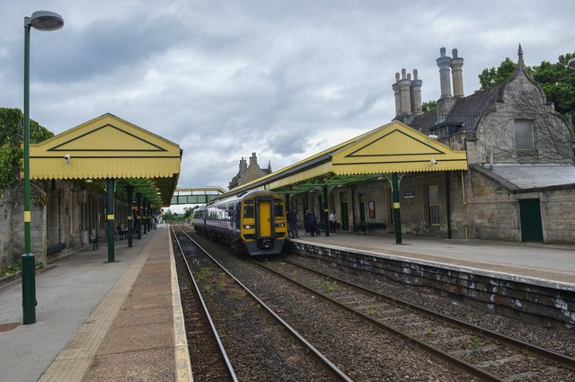 Worksop Station has had a fresh lick of paint