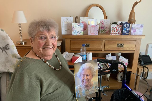 Eunice Moon celebrated her 100th birthday at Priory Court care home in Worksop.