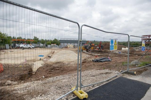 Building work near Sainsbury's, Highgrounds, Worksop.