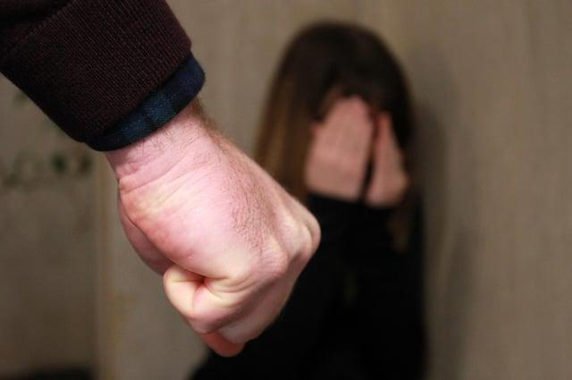 STOCK: Domestic violence illustration.