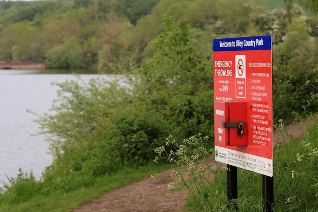 The reservoir at Ulley Country Park. Picture: Chris Etchells