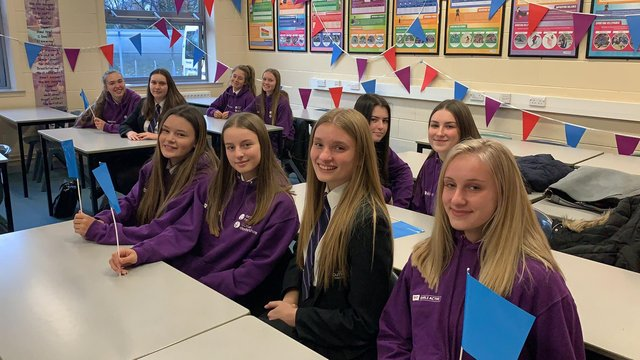 Students from Outwood Academy Valley have won a national award for encouraging girls to participate in sports activities.