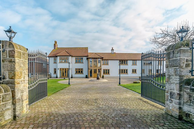 The house is on Mansfield Road in Skegby and is on the market for £1.45 million.