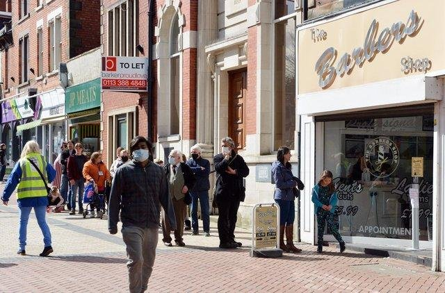 Pictured is Worksop high street.