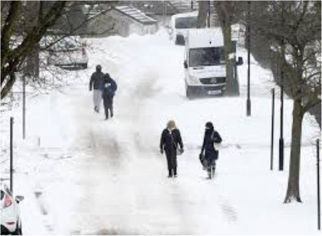 Heavy snow has blanketed Nottinghamshire and is expected to continue to fall until Tuesday afternoon.