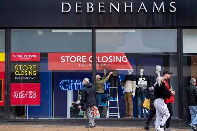 Debenhams will officially close many of its stores on May 12. Photo by Anthony Devlin/Getty Images.