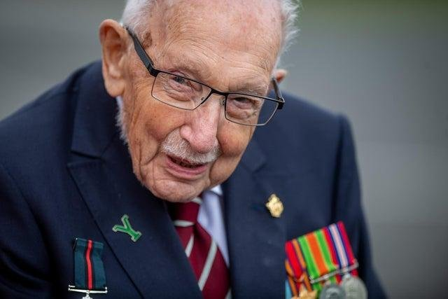 Capt Sir Tom Moore won the nation's hearts with his charity endeavours during the first lockdown.