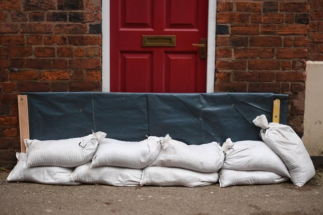 Around 5,000 sandbags were delivered to homes in Nottinghamshire (Photo by Oli SCARFF / AFP) (Photo by OLI SCARFF/AFP via Getty Images)