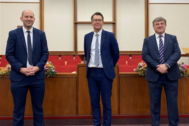 The new Sheffield region leadershop. Pictured are Richard Walshaw, Graeme Holt and Simon Wainwright.