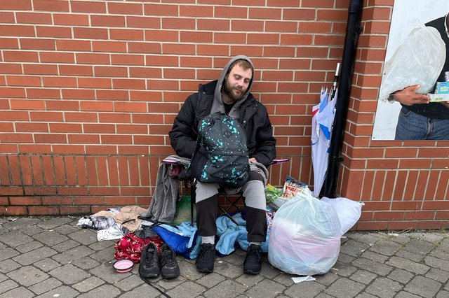 Homeless Worksop man Jay wth his dog Lilly. The pair are settling into a new home thanks to a fundraising campaign.