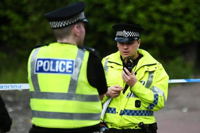 A man was arrested after an officer was bitten.