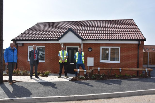 This is a milestone moment as it's the first property to be completed of the 37 new properties being built in Whitwell. When you think this was a disused garage site six months ago and now we have a beautiful two-bedroom bungalow it is a phenomenal achievement.