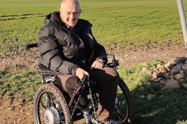 Gordon Swift from South Anston was given just a six per cent chance of survival in a motorbike crash- but pulled through, and is now rebuilding his life.