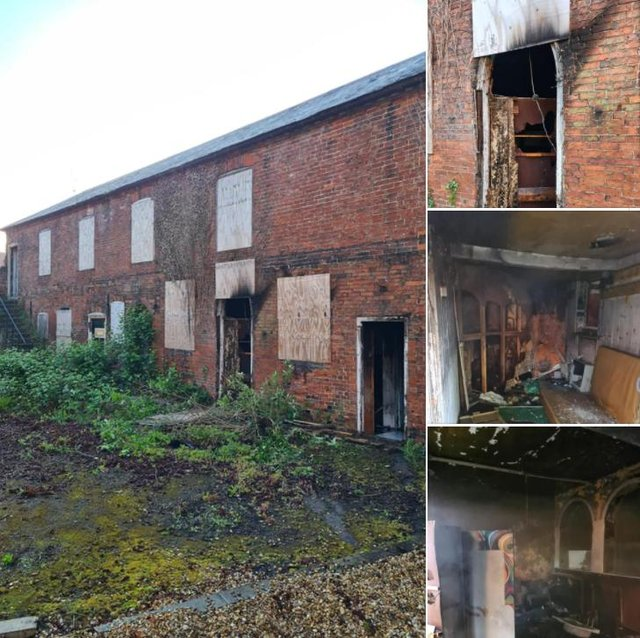 The aftermath of the fire on Rectory Road, in Retford