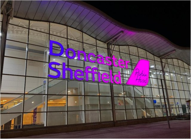 Doncaster Sheffield Airport.